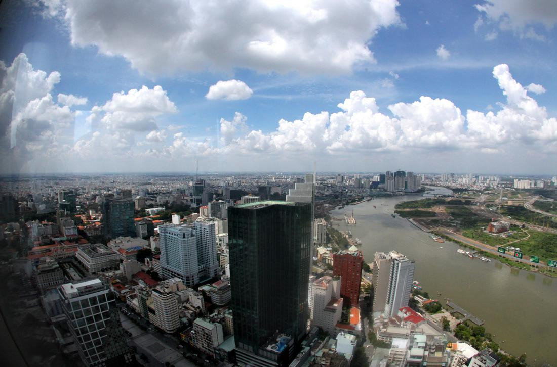 The view of Saigon from a skydeck